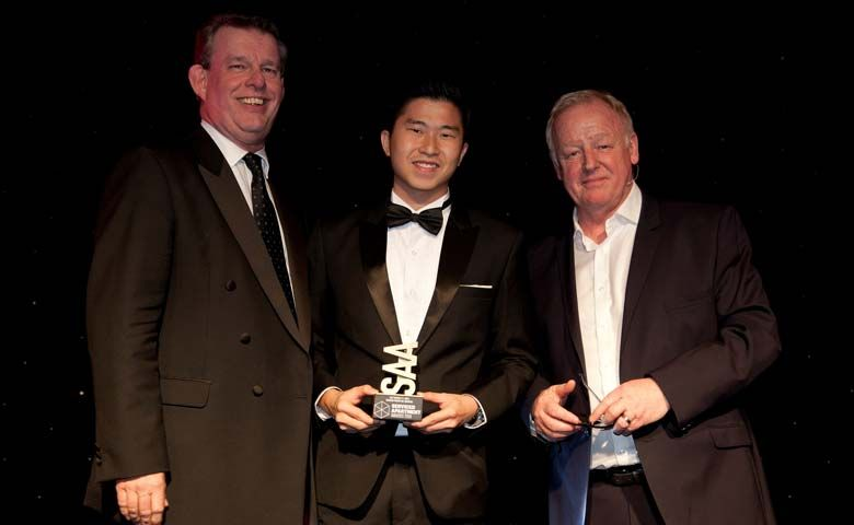 Roy Liang, General Manager receiving Best Property (71+ units)