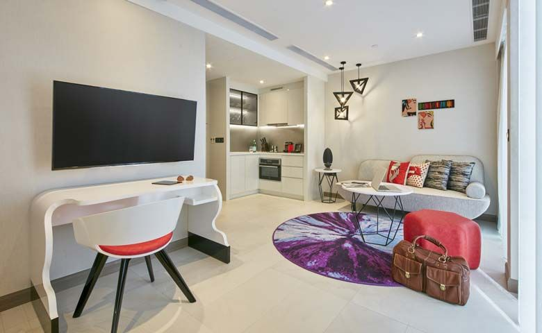 Oakwood Studios Singapore's studio apartment