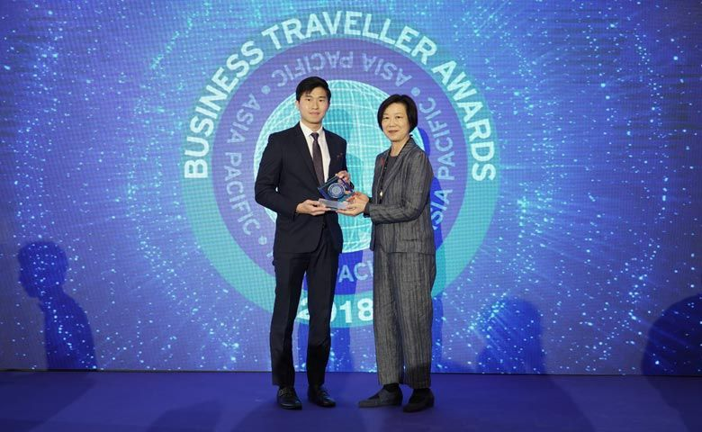 General Manager Roy Liang at the 2018 Business Traveller Asia Pacific Awards and the 29th Annual TTG Travel Awards 2018