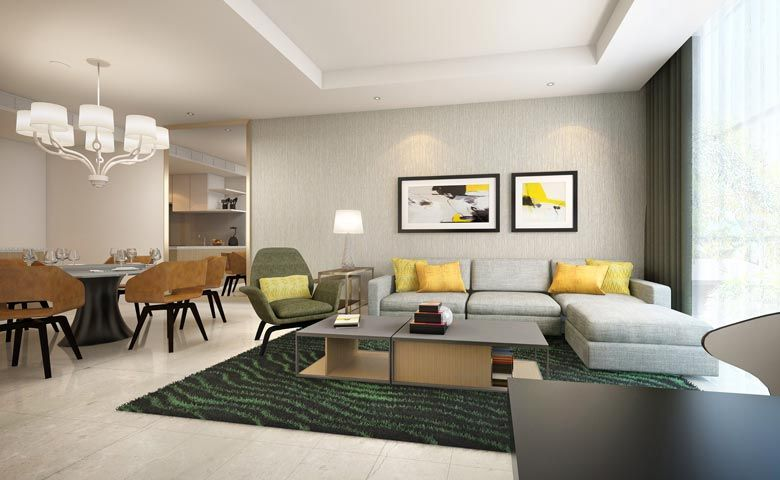 Rendering of Oakwood Residence Saigon's three-bedroom apartment