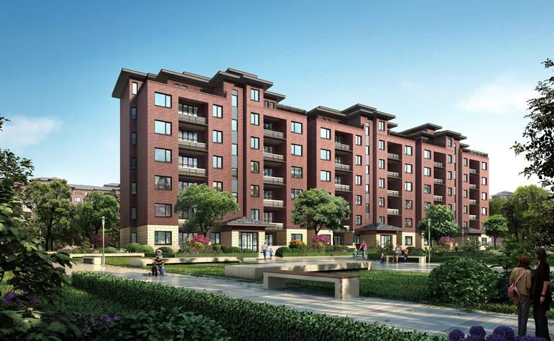 Rendering of Oakwood Apartments Yangzhou