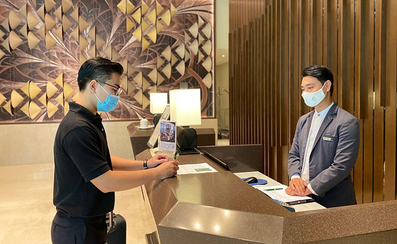 Check-In Reception at Oakwood Residence Saigon