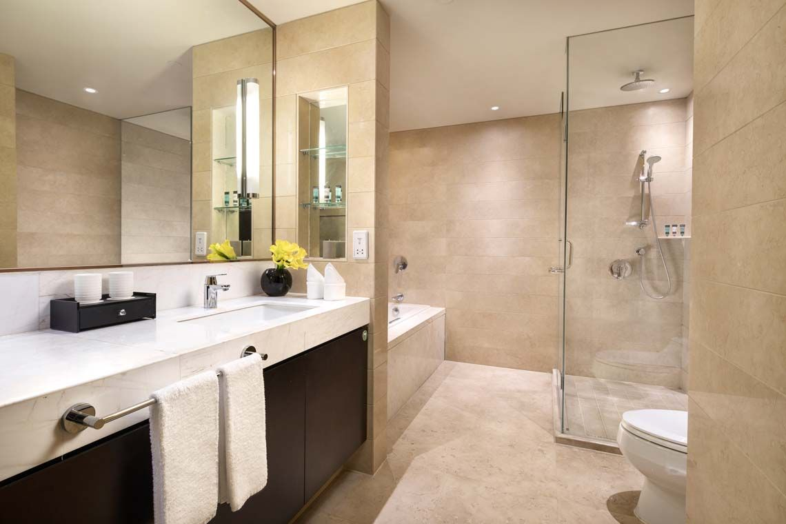 Oakwood Residence Hangzhou's three-bedroom executive apartment's bathroom