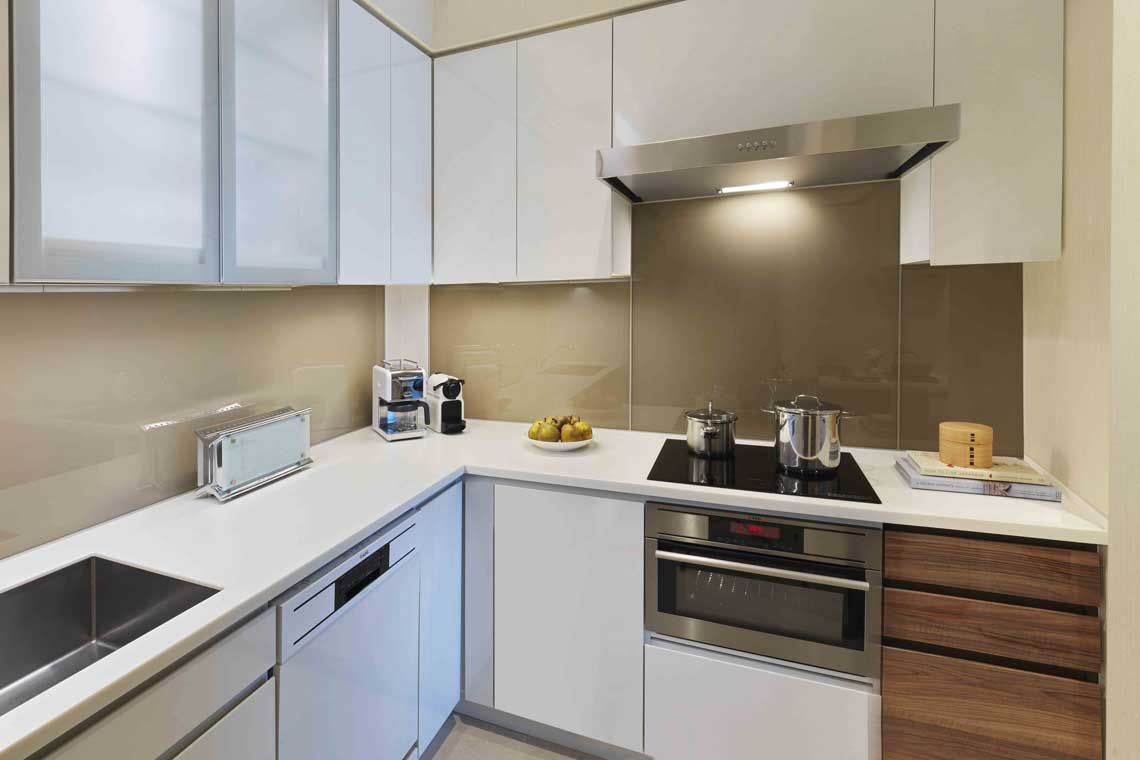 Oakwood Premier Tokyo's three-bedroom executive apartment's kitchen