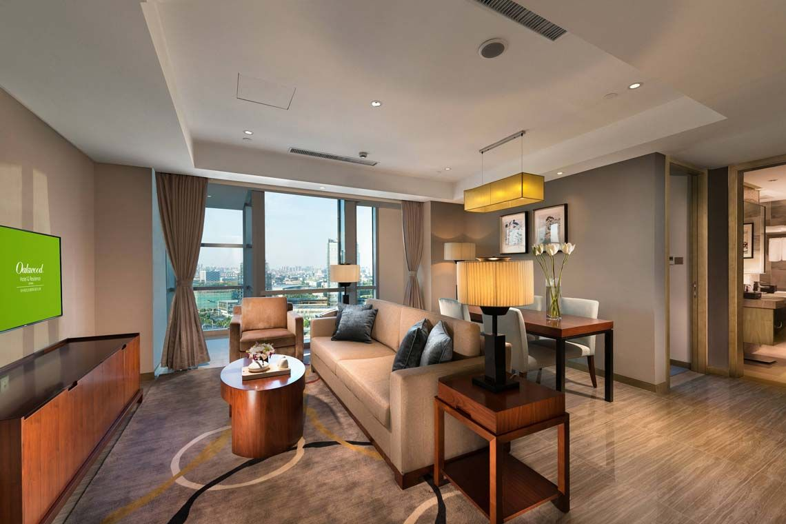 Oakwood Hotel & Residence Suzhou's three-bedroom apartment