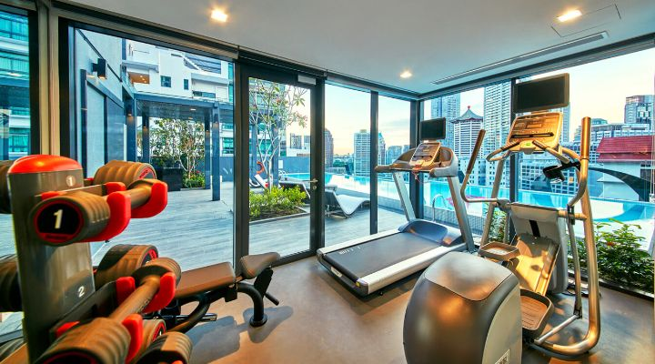 Oakwood Studios Singapore's gym