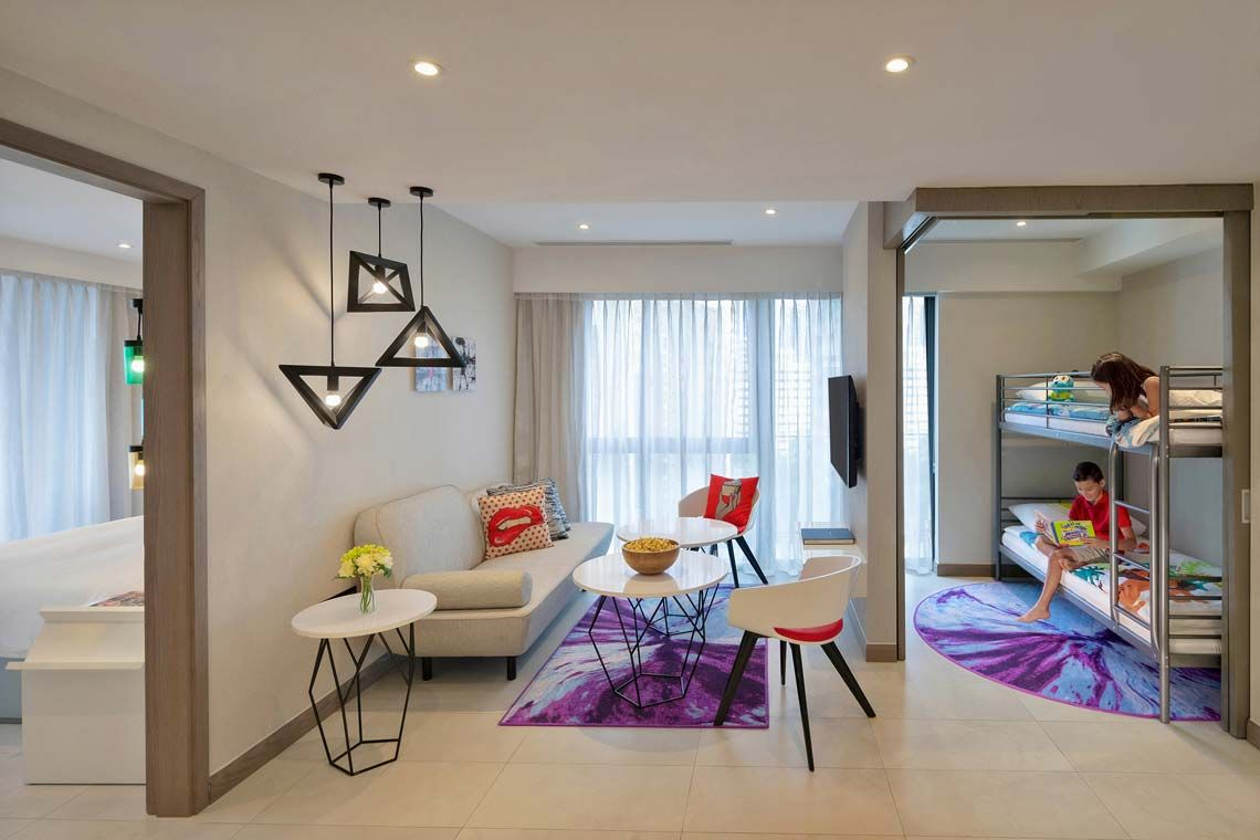Oakwood Studios Singapore's three-bedroom dual key apartment
