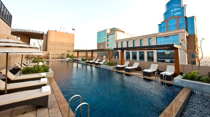 Oakwood Premier Prestige Bangalore's pool by day