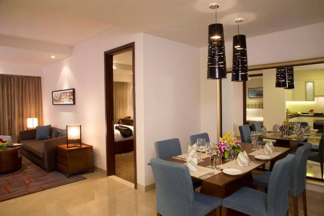 Oakwood Residence Prestige Whitefield, Bangalore's one-bedroom deluxe apartment