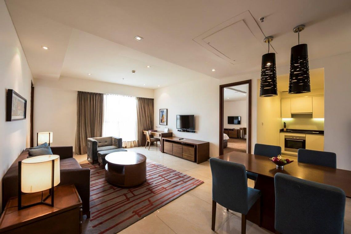 Oakwood Residence Prestige Whitefield, Bangalore's two-bedroom deluxe apartment