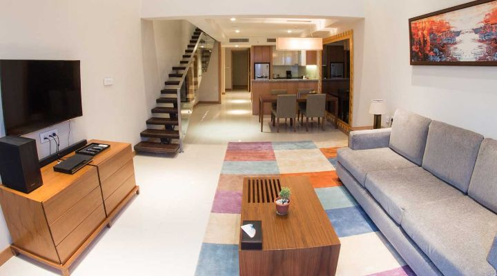Oakwood Residence Kapil Hyderabad's one-bedroom duplex apartment