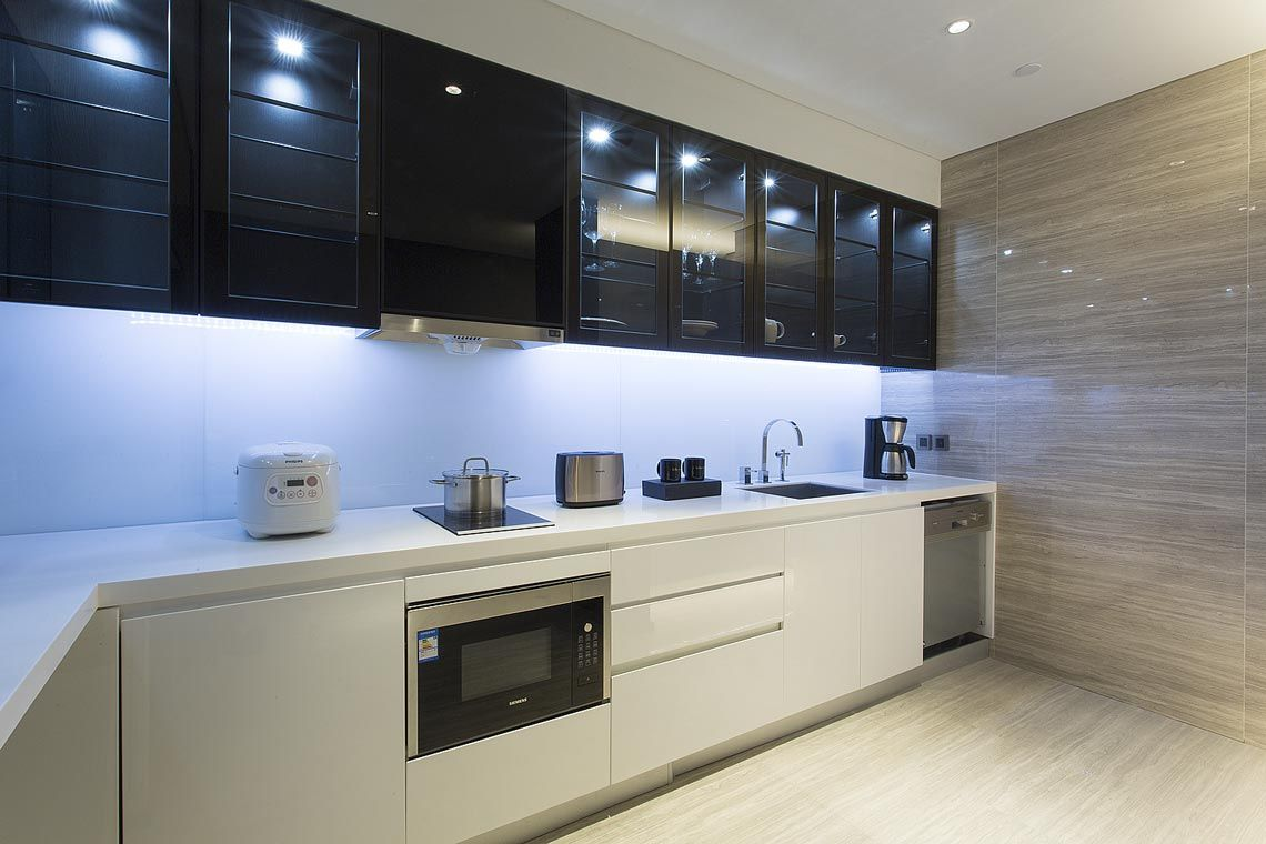 Oakwood Residence Damei Beijing's studio apartment's kitchen