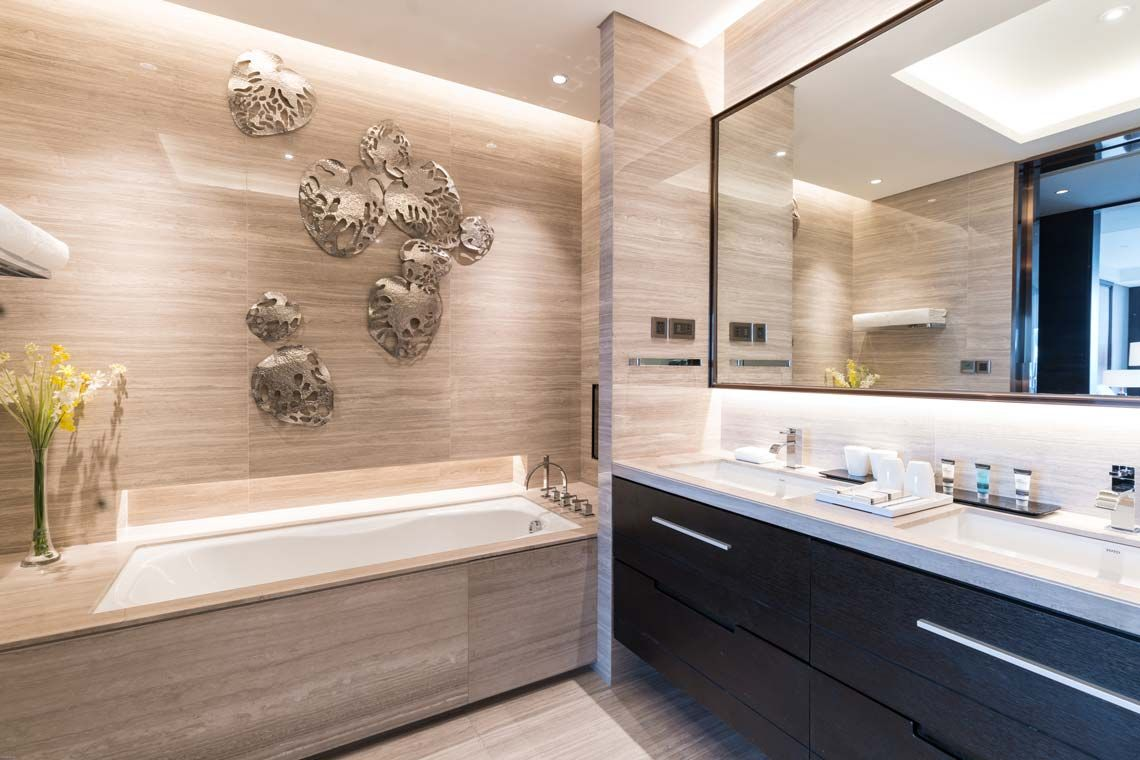 Oakwood Residence Damei Beijing's three-bedroom apartment's bathroom