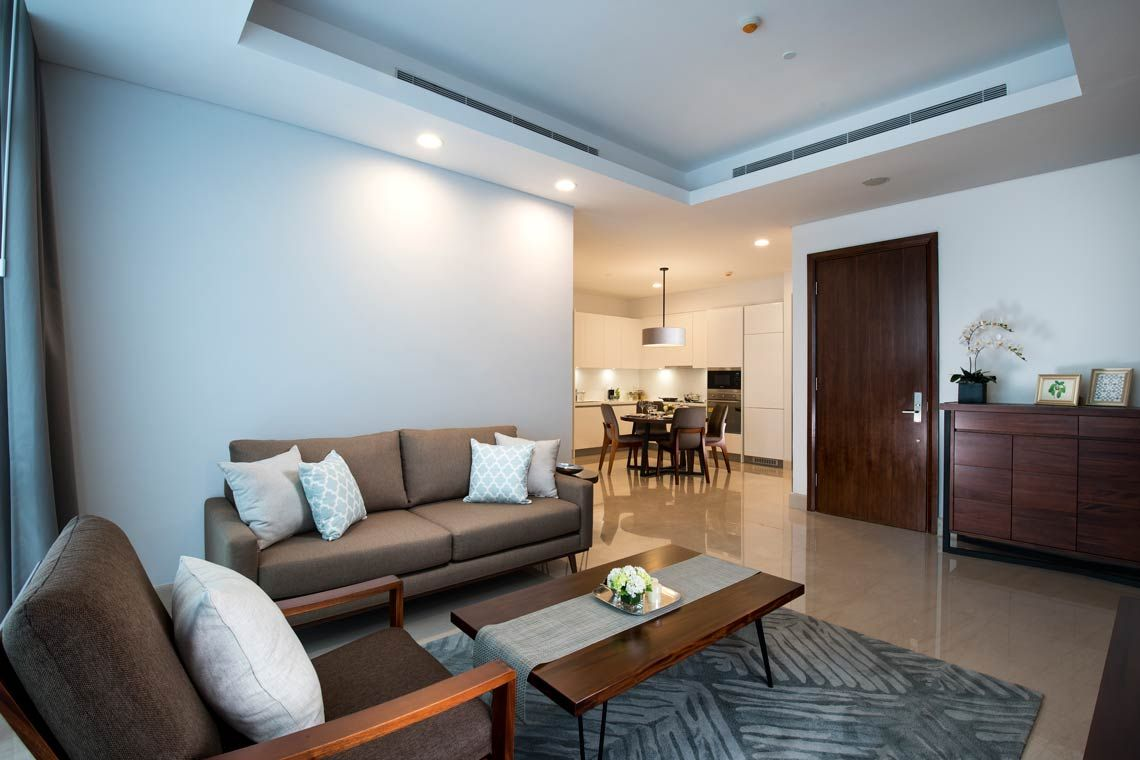 Oakwood Suites La Maison Jakarta two-bedroom executive apartment's living room