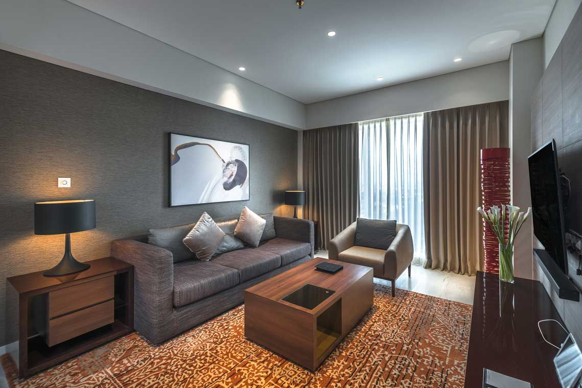 Oakwood Hotel & Residence Surabaya's one-bedroom premier apartment