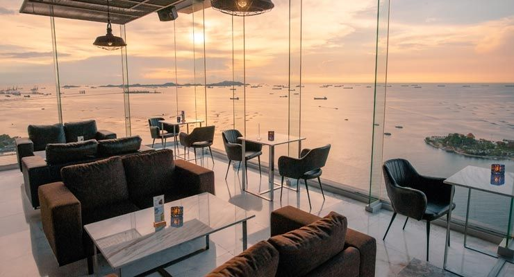 Unwind evening with variety of drinks and panoramic view on 48th floor Atara Sky Bar & Bistro