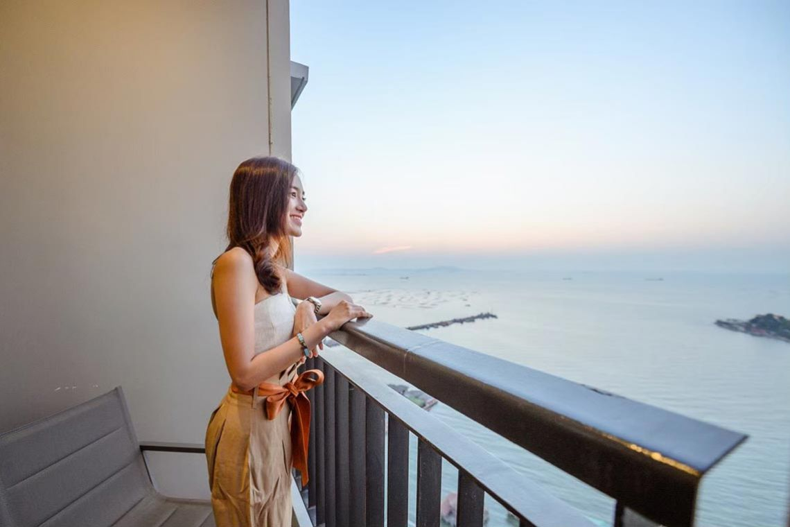 Oakwood Hotel & Residence Sri Racha's one-bedroom premium sea view