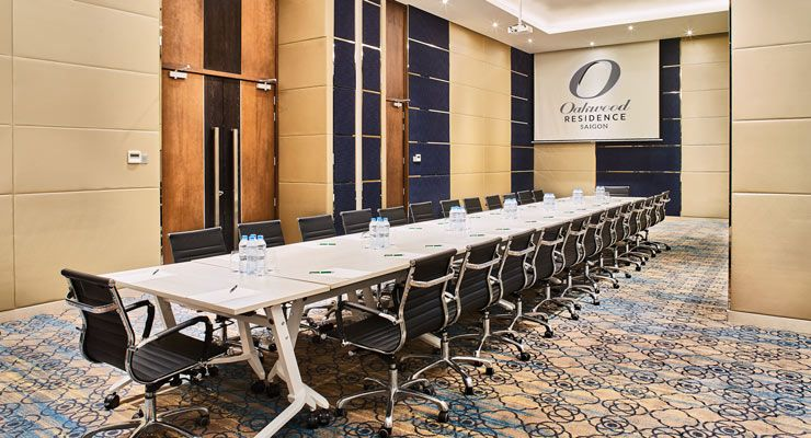 Oakwood Residence Saigon's Bamboo & Lotus meeting room