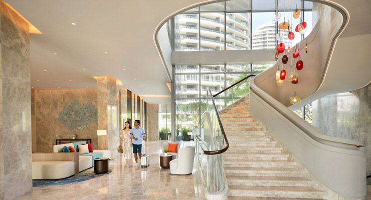 Oakwood Apartments Sanya's lobby
