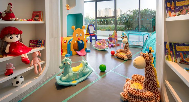 Oakwood Apartments Sanya's children's playroom