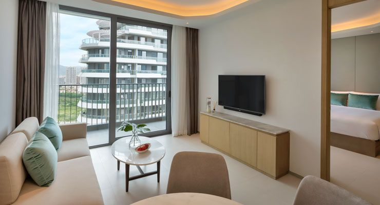 Oakwood Apartments Sanya's one bedroom deluxe garden apartment