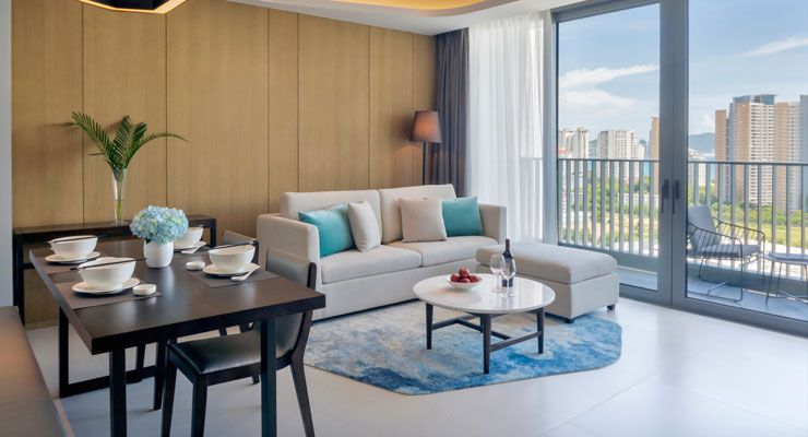 Oakwood Apartments Sanya's two bedroom ocean apartment