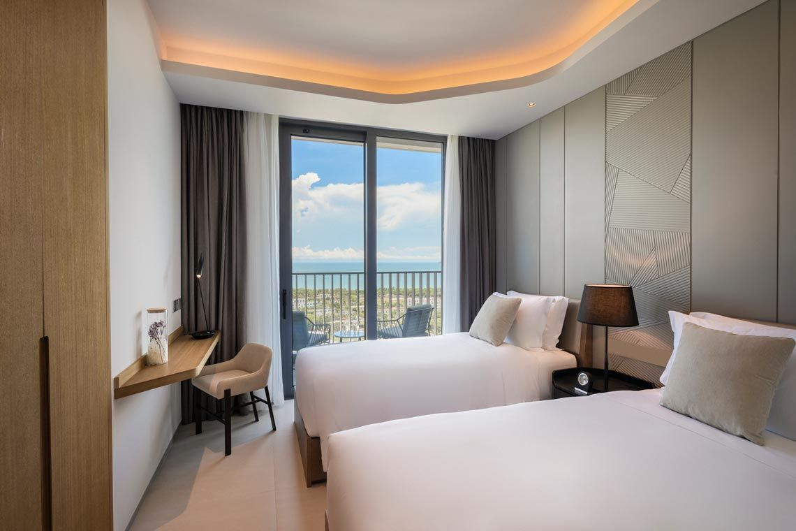 Oakwood Apartments Sanya's two-bedroom executive apartment with ocean view
