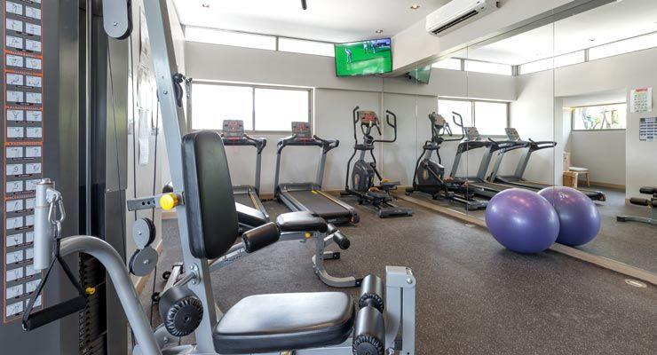 Fitness centre at Oakwood Hotel Journeyhub Phuket