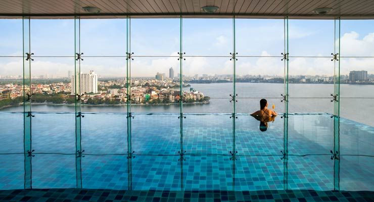 Oakwood Residence Hanoi's All-Season Infinity Pool