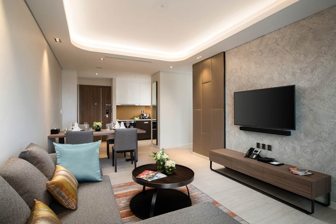 Oakwood Residence Hanoi's two-bedroom deluxe apartment