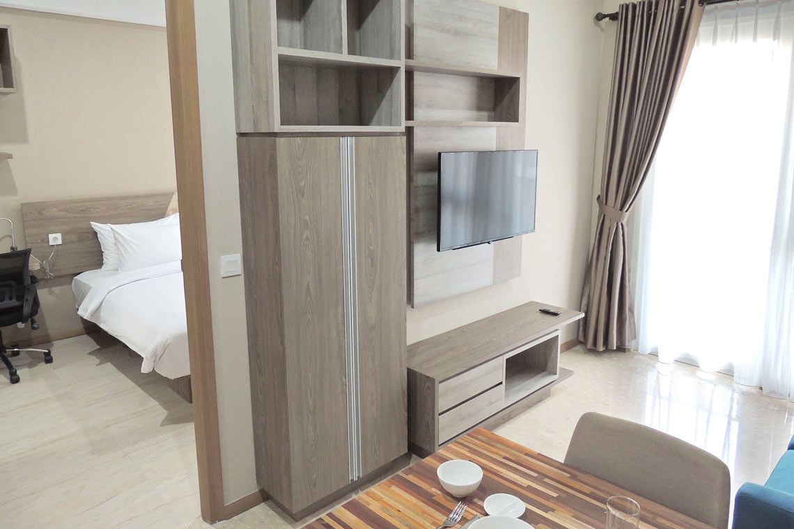 Oakwood Residence Cikarang's one-bedroom apartment