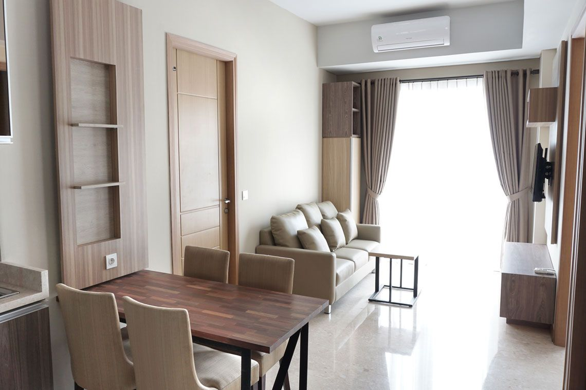 Oakwood Residence Cikarang's three-bedroom city view