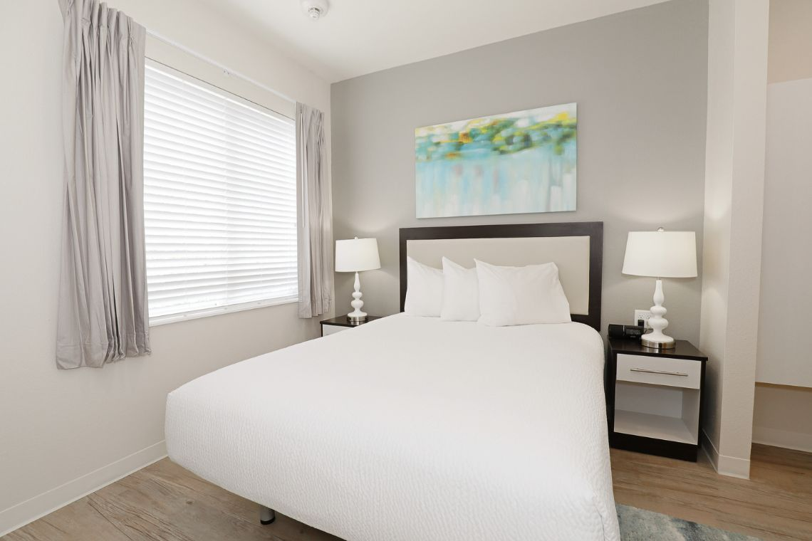 Oakwood WaterWalk San Antonio on the Rim's three-bedroom apartment bedroom