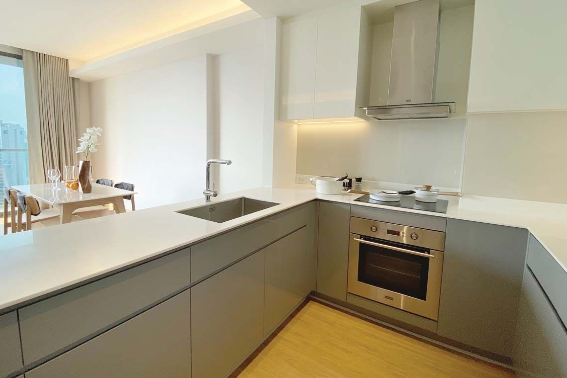 Oakwood Suites Bangkok's two-bedroom executive's kitchenette