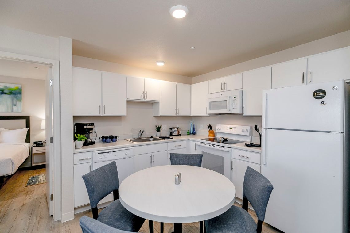 Oakwood WaterWalk Denver Tech Center's two-bedroom apartment kitchen