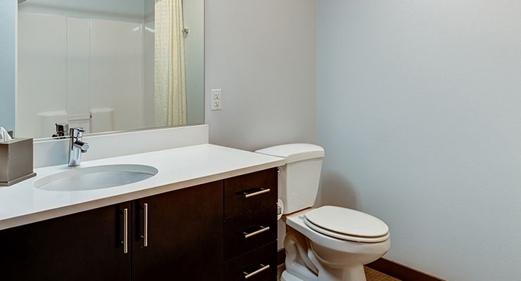 Oakwood Residence Seattle South Lake Union's two-bedroom apartment bathroom