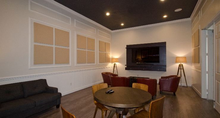 Oakwood Apartments Raleigh Brier Creek's media room