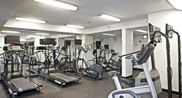 Oakwood Residence Crystal City's fitness center