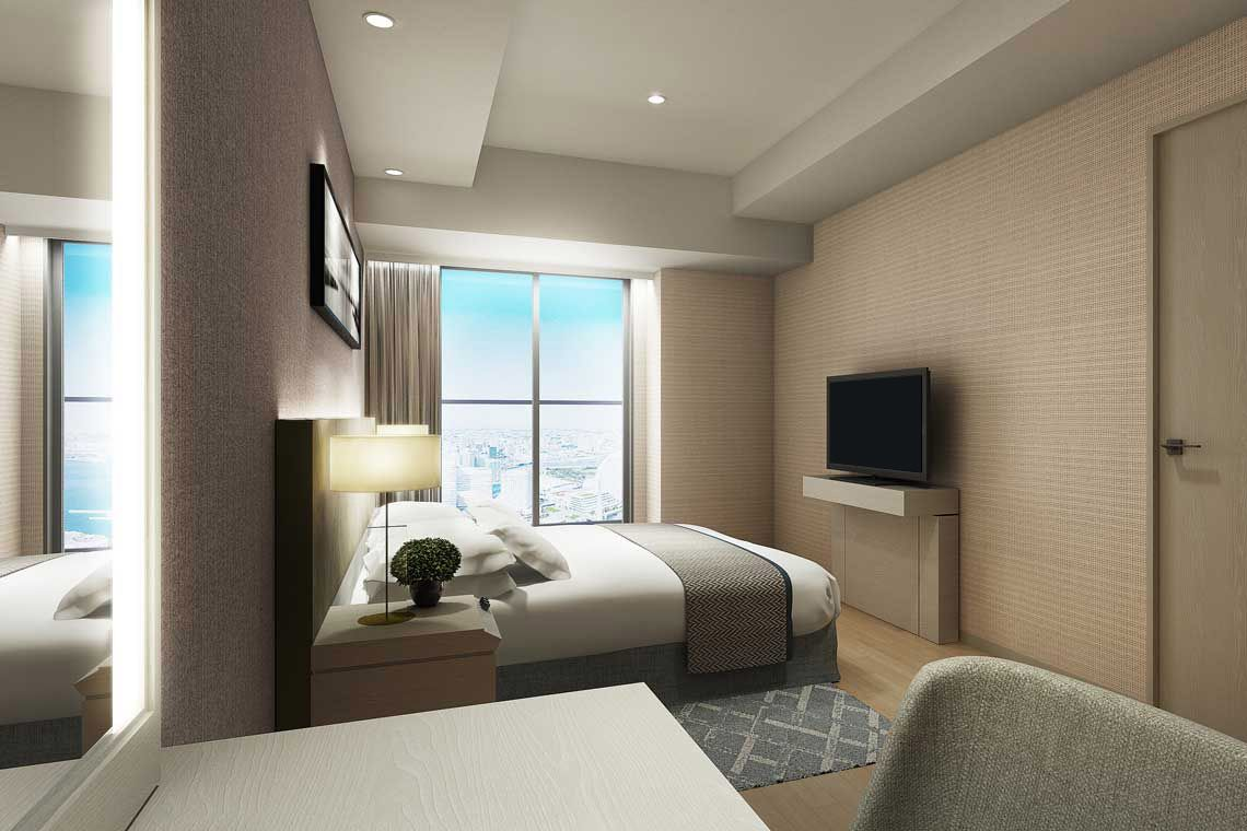 Oakwood Suites Yokohama's studio deluxe city view