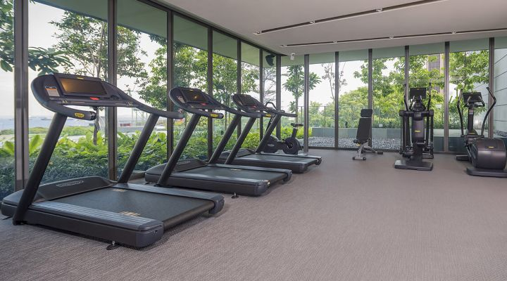 Oakwood Premier AMTD Singapore's fitness center
