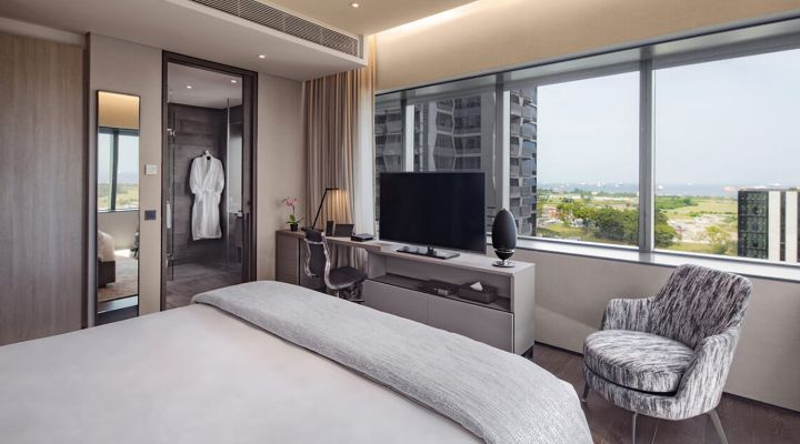 Oakwood Premier AMTD Singapore's one-bedroom apartment