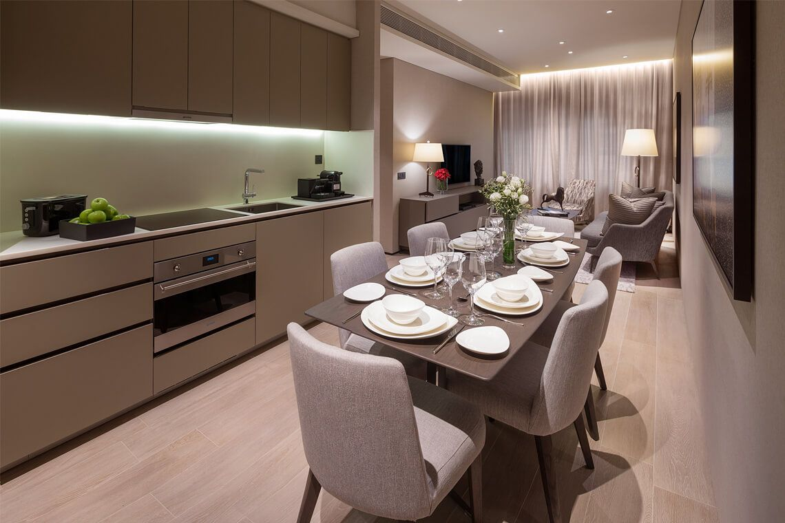 Oakwood Premier AMTD Singapore's two-bedroom executive apartment