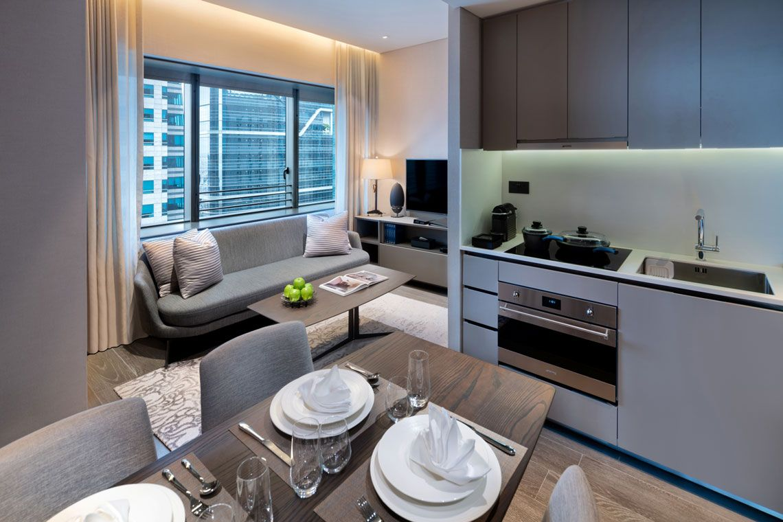 Oakwood Premier AMTD Singapore's two-bedroom deluxe apartment