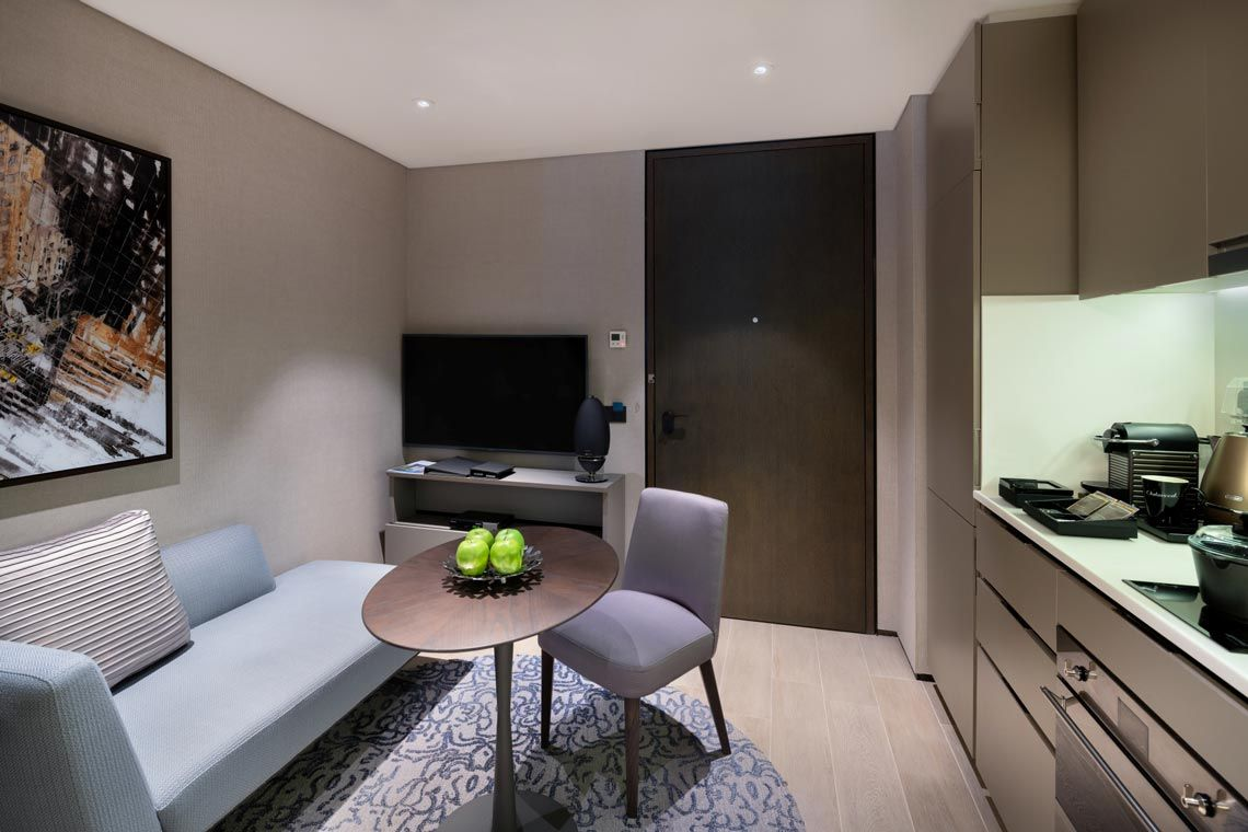 Oakwood Premier AMTD Singapore's one-bedroom deluxe apartment