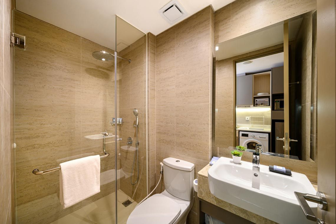 Oakwood Apartments PIK Jakarta's studio superior's bathroom