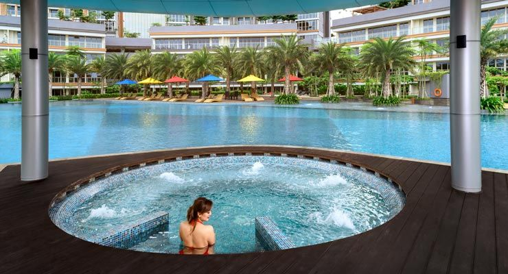 Oakwood Apartments PIK Jakarta's Outdoor Whirlpool