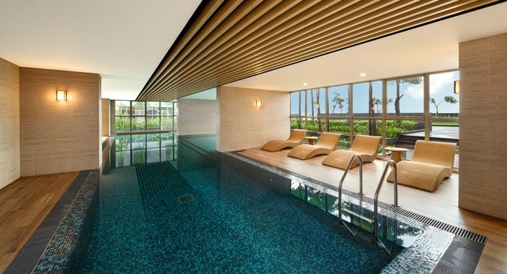 Oakwood Apartments PIK Jakarta's Indoor Pool