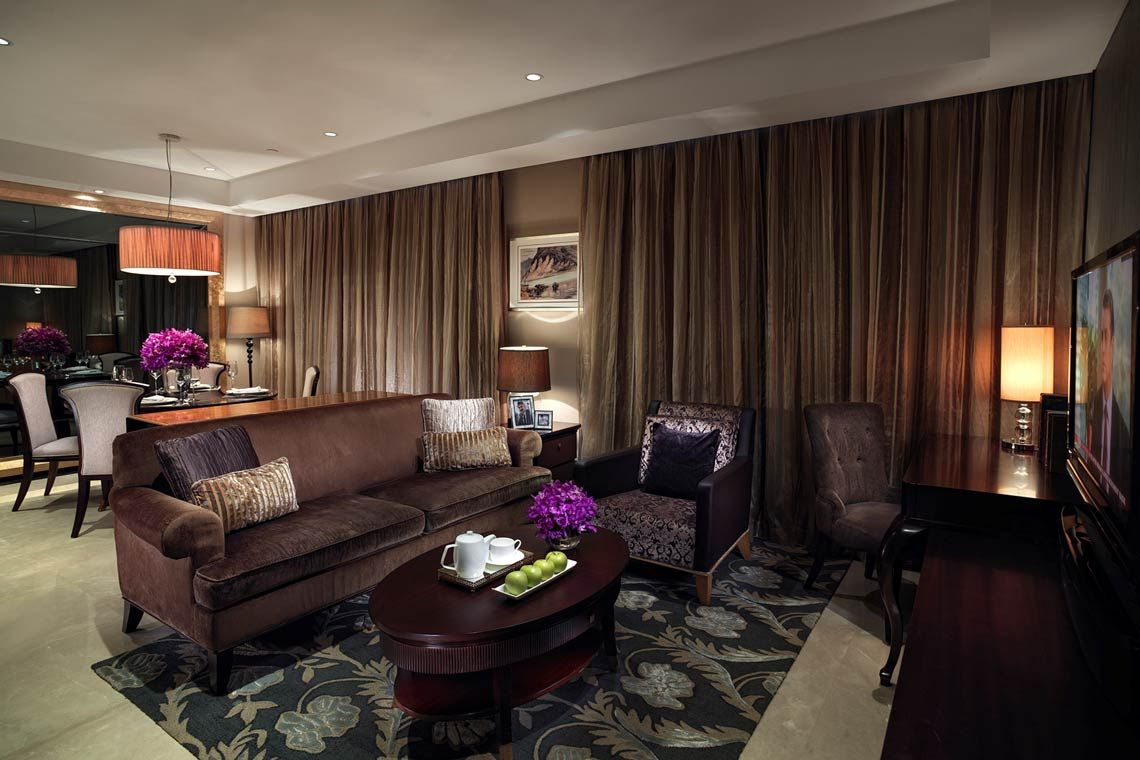 Oakwood Premier Guangzhou's two-bedroom family deluxe apartment